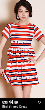 Bird Striped Dress