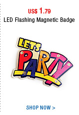 LED Flashing Magnetic Badge