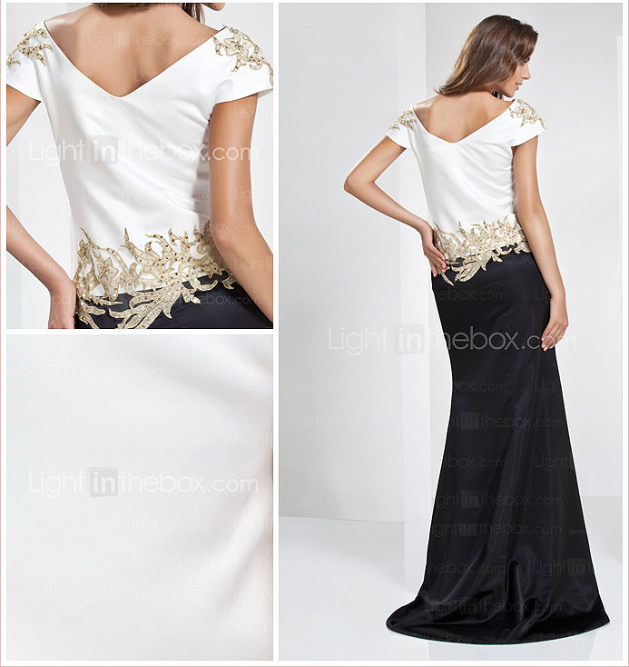 Trumpet/Mermaid Bateau Floor-length Satin Evening Dress