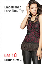 Embellished Lace Tank Top