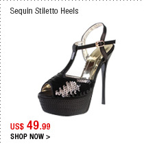 Sequin Stiletto Heels
