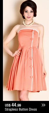 Strapless Button Dress