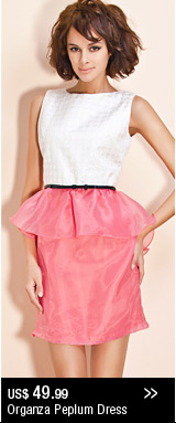Organza Peplum Dress