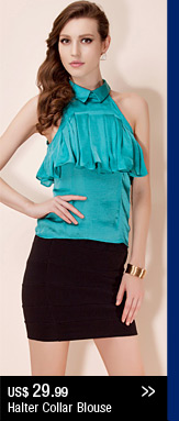 Halter Collar Blouse