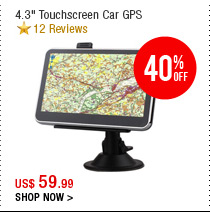 "4.3"" Touchscreen Car GPS"