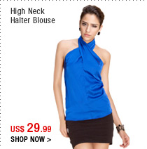 High Neck Halter Blouse