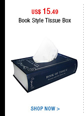 Book Style Tissue Box