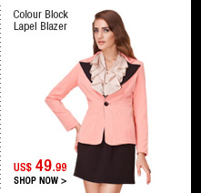 Colour Block Lapel Blazer