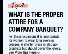 What Is The Proper Attire For A Company Banquet?