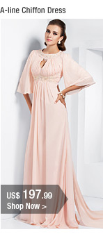 A-line Chiffon Dress