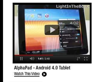 AlphaPad - Android 4.0 Tablet