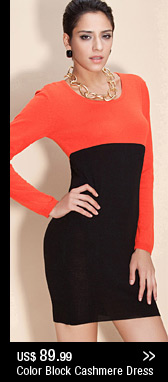 Color Block Cashmere Dress