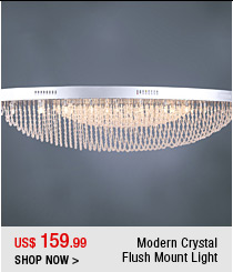 Modern Crystal Flush Mount Light