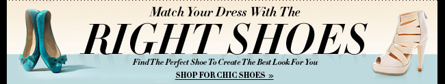 Match Your Dress With The Right Shoes