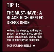 The Must-Have : A Black High Heeled Dress Shoe