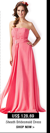 Sheath Bridesmaid Dress