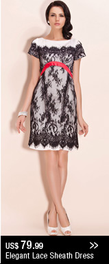 Elegant Lace Sheath Dress