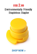 Environmentally Friendly Stapleless Stapler