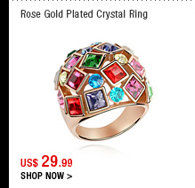 Rose Gold Plated Crystal Ring