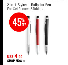 2-in-1 Stylus + Ballpoint Pen
