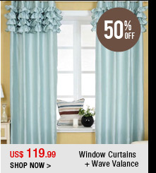 Window Curtains + Wave Valance