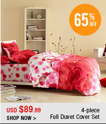 4-piece Full Duvet Cover Set