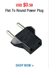 Flat To Round Power Plug