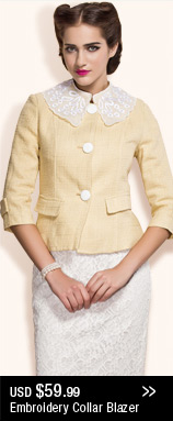 Embroidery Collar Blazer