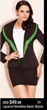 Layered Neckline Basic Blazer