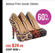 Animal Print Suede Stiletto