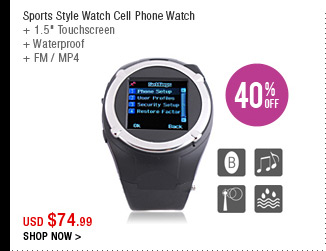 Sports Style Watch Cell Phone Watch