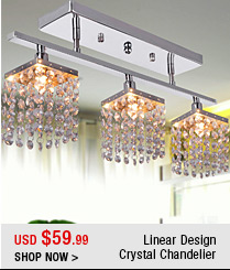 Linear Design Crystal Chandelier