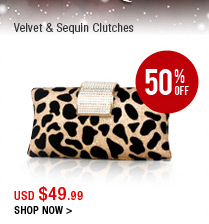 Velvet & Sequin Clutches
