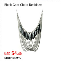 Black Gem Chain Necklace