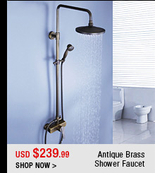 Antique Brass Shower Faucet