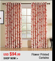 Flower Printed Curtains