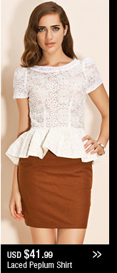 Lacy Peplum Shirt