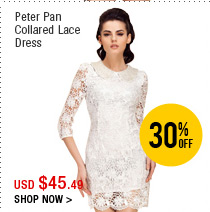Peter Pan Collared Lace Dress