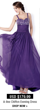A-line Chiffon Evening Dress