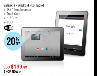 Valencia - Android 4.0 Tablet