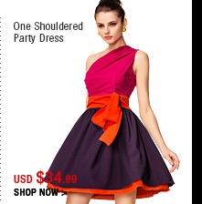 One Shouldered Party Dress