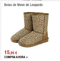 Botas de Nieve de Leopardo