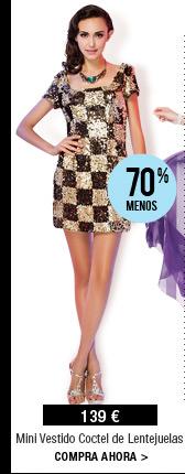 Mini Vestido Coctel de Lentejuelas