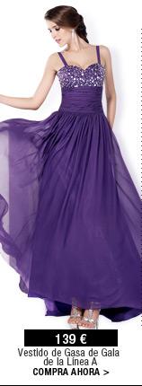Vestido de Gasa de Gala de la Línea A
