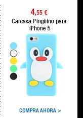 Carcasa Pingüino para iPhone 5