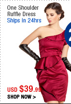 One Shoulder Ruffle Dress