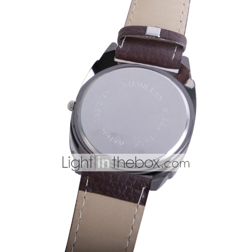 Stylish Black Leather Band Man's Wrist Watch