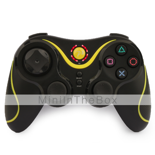 ultra-gaming wireless controlador Dual Shock para ps3 (amarelo)