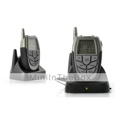 Термометр состоит из базы с выносным датчиком и приёмника с LCD дисплеем.  Он имеет предустановленные настройки...