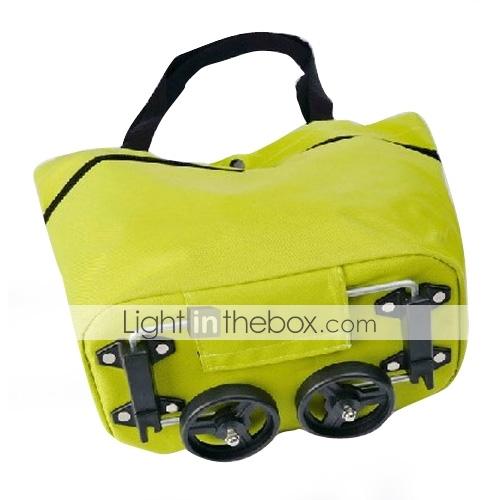 складная сумка + сумка + путешествия сумочку с колесами (зеленый)